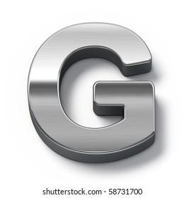 Metal alphabet symbol - g