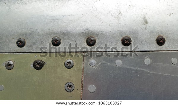 Metal Aluminum Sheet Metal Rivets Metal Stock Photo (Edit