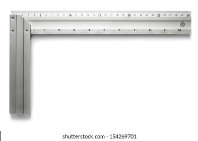 Metal angle isolated on white background