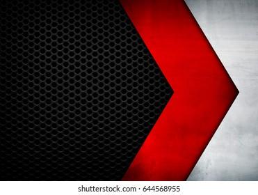 metal arrow design with mesh background