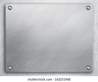 Metal background, riveted metal plate