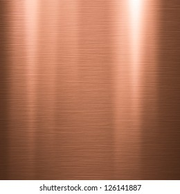 Metal background or texture of brushed copper  plate