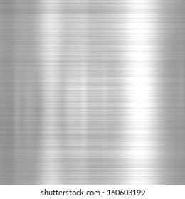 Metal background or texture of light brushed steel  plate