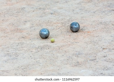 Metal balls for game in Petanque