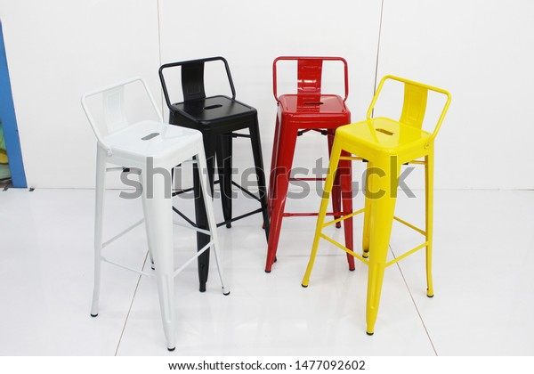 Pleasant Metal Bar Chair Isolated On White Stock Photo Edit Now Machost Co Dining Chair Design Ideas Machostcouk