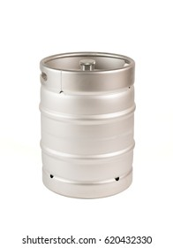 metal barrel of beer