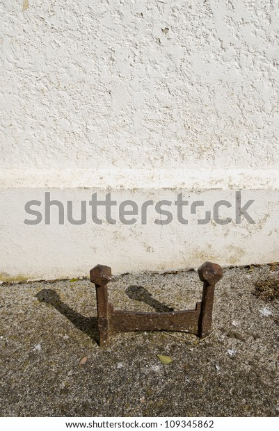 Metal Boot Scraper Outside Country Church Stock Photo (Edit