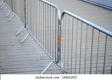 metal boundary railing