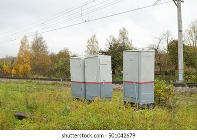 Metal boxes with the mechanism of supply of electricity.