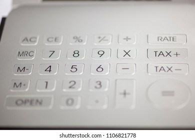 Metal calculator pad with numbers