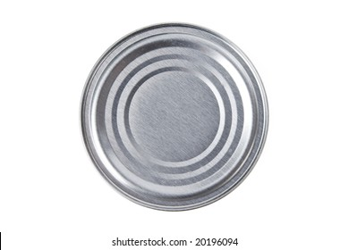 Metal Can top with white background