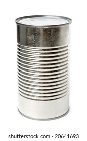 Metal Can with white background