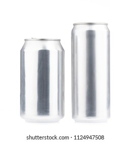metal cans isolated on white background