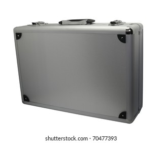 Metal case isolated on white background