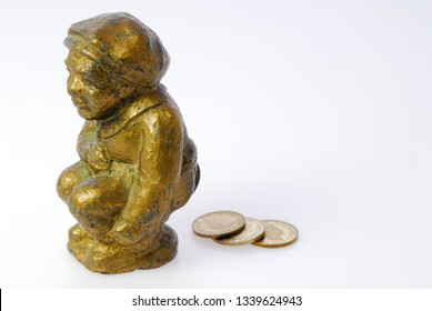 Metal casting of young boy pfennig schisser which means penny shitter Toronto, Ontario, Canada - February 10, 2006