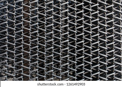 Metal chain fence seamless texture background texture. Abstract background of steel chain fences. Woven silver metal mesh. Industrial Strength or power concept background image. Metal or steel pattern