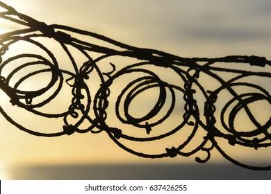 metal circles silhouette