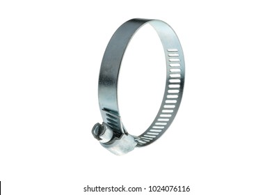 metal clamp for pipes with screw and thread