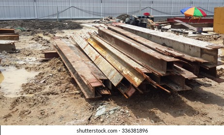 The metal for construction site.