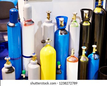 Metal cylinders for compressed gases on store