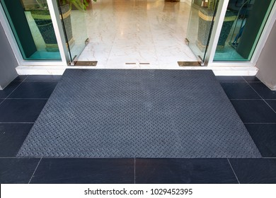 metal diamond pattern ramp way for support wheelchair disabled people.