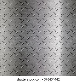 The metal diamond plate background