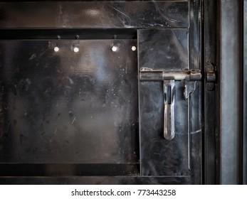 Metal door with old lock