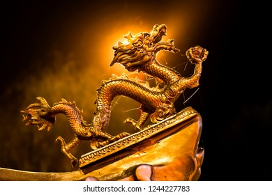 Metal Dragon at Chinese Temple