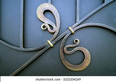 metal elements forged wrought iron gates