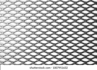 metal expanded lath on white background