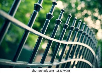 Metal Fence Images Stock Photos Amp Vectors Shutterstock