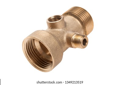 metal fitting for water pipes isolated on white background