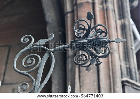 52087a79680 metal flower artwork in wrought iron ornament Closeup iron lattice  decorations vintage