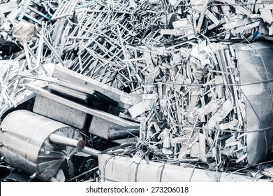 Metal Garbage ready for recycling