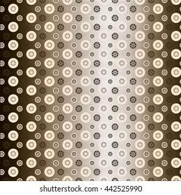 Metal gold patterned wallpaper