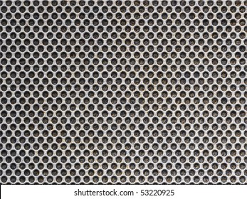 metal grid background (old metal)