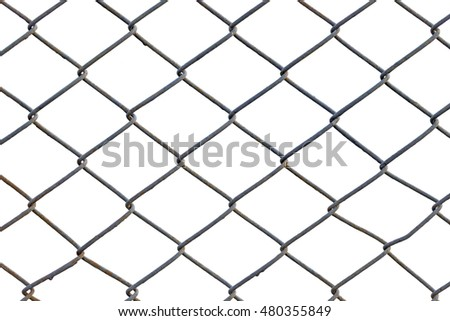 metal grid fence isolated on white stock photo edit now 480355849