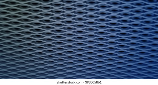 metal grid gauze on colored background