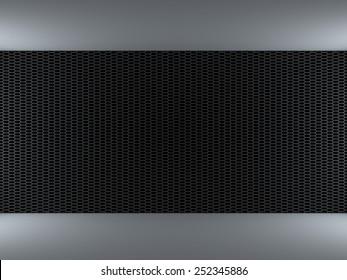 Metal grid wall