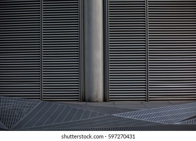metal grill air vent abstract