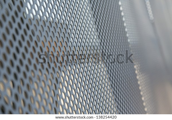 metal grille with mesh holes