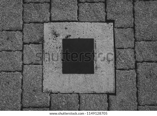 Metal Hatch Stone Concrete Stock Photo (Edit Now) 1149128705