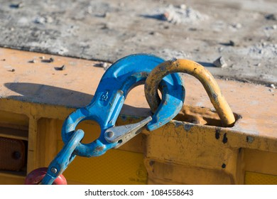 Metal hook on a chain