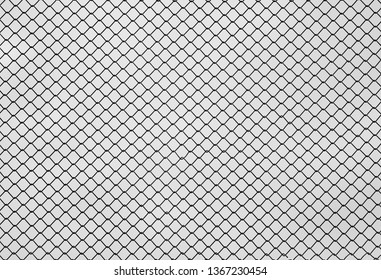 metal iron mesh on a white background diamond-shaped cell