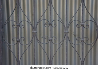 Metal iron work background