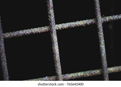 Metal jail macro view