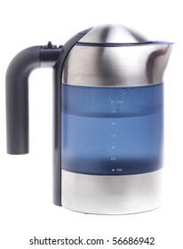 Metal kettle isolated on white