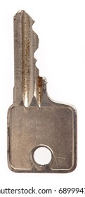 metal key isolated on a white background