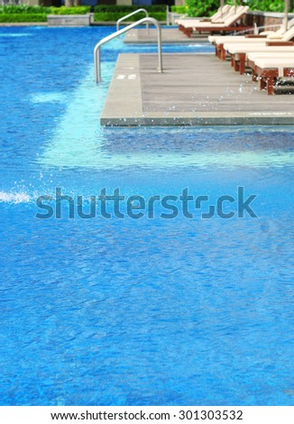 Metal Ladder Steps Into Swimming Pool Stock Photo (Edit Now ...