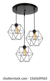 metal lamp chandelier adds a different ambience to the environment home